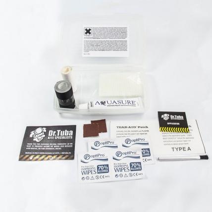 Dr.Tuba Mini Kite Repair Kit Contents