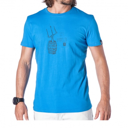 Mystic Barrel Tee in Summer Blue