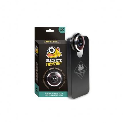 IPhone 4 and 4s Black Eye Twister Fish Eye Lens