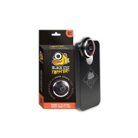 Black Eye - Twister Fish Eye Lens for Iphone 4, 4s, 5, 5s and 6