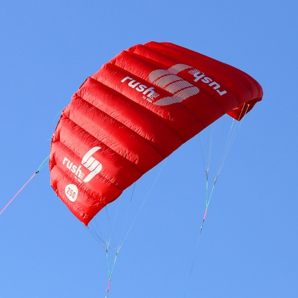 HQ4 Rush Pro Kitesurf Trainer Power Kite back