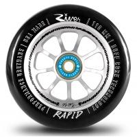 River Wheel Co - Rapids Matt McKeen Sig Black on Silver Wheel