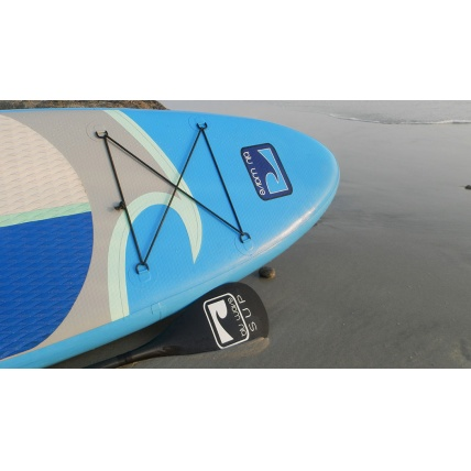 Blu Wave iSup 10ft 6in Wave Rider Paddleboard on Beach