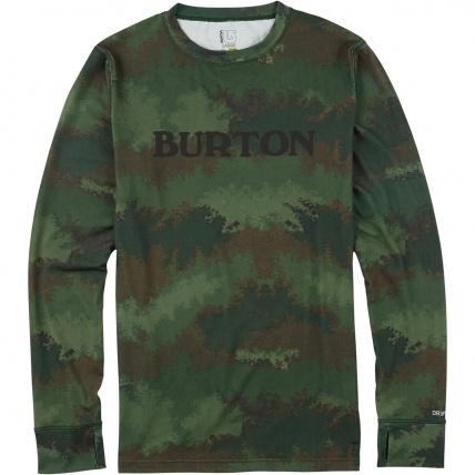 Burton Midweight crew base layer in oil camo