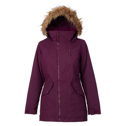 Burton Womens Hazel Jacket in Starling Wax front