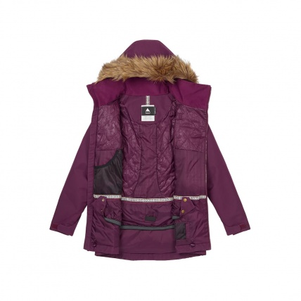 Burton Womens Hazel Jacket in Starling Wax open