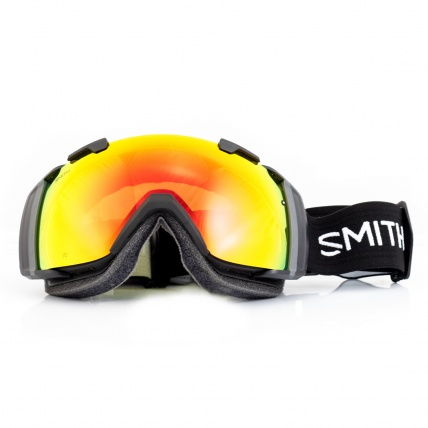 Smith I/O Goggles Black Red SolX front view