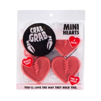 Crab Grab - Mini Hearts Traction Pack in Pink (4 Piece)