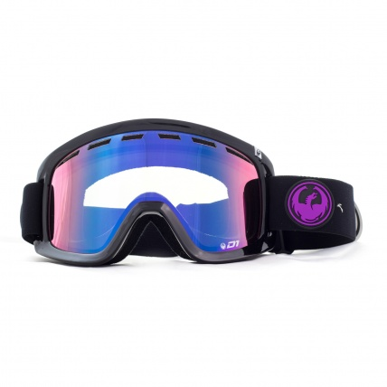 Dragon D1 Jet Purple Ion Snowboard Goggles Front View