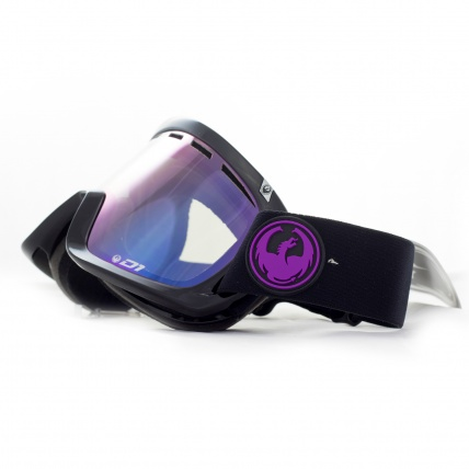 Dragon D1 Jet Purple Ion Snowboard Goggles Front Side View