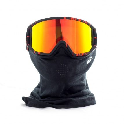 Relapse MFI Snowboard Goggles in Red Light Front View