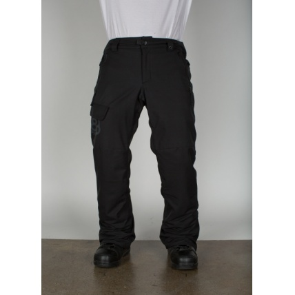 686 Authentic Rover Black Pant Model Front View