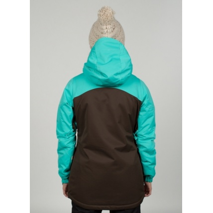 686 Womens Authentic Festival Insulated Coffee Jacket Model Back View
