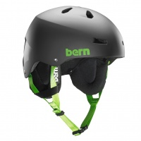 Bern - Team Macon Mens Matte Black EPS Helmet