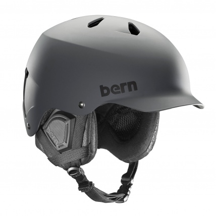 Bern Watts Mens EPS helmet in matte grey