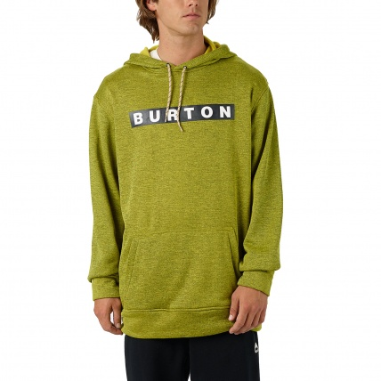 Burton Oak Pullover Hoodie in Eclipse Toxin Heather Front