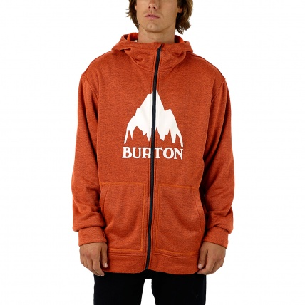 Burton Oak Pullover Hoodie in Firecracker Heather Front