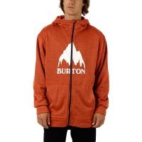 Burton - Oak Zip Hoodie in Firecracker Heather