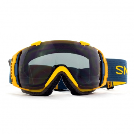 Smith I/O Goggles Mustard Conditions Blackout front view