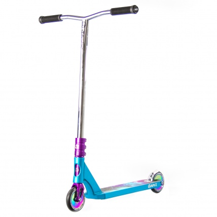 Apex Kraken Custom Pro Scooter Blue Purple and Chrome front
