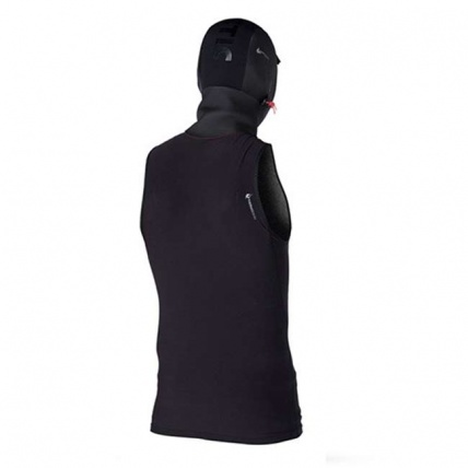 Rear of Mystic Bipoly Thermal Hooded Tank Top