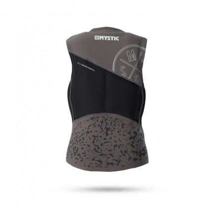 Mystic star kite impact vest in black rear view