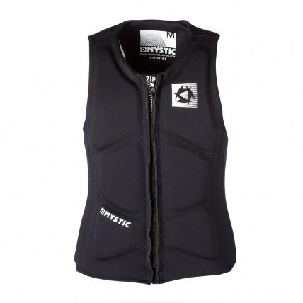 Mystic Brand Impact Vest Black front view