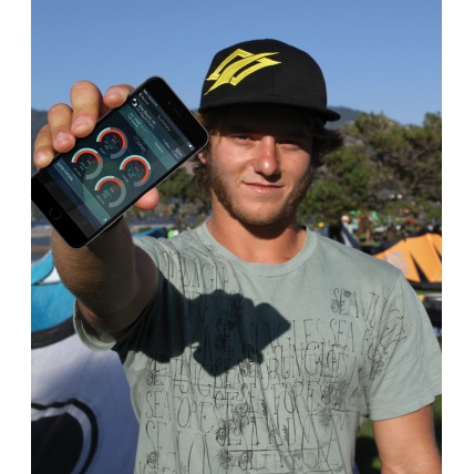 Xensr 3D Sports visualiiser being used by pro kiteboarder Jesse Richman