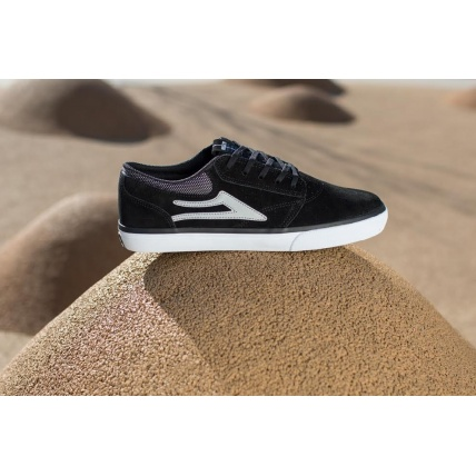 Lakai Griffin Skate Shoes in Black Suede Detail