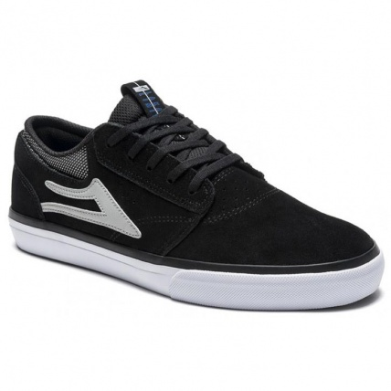 Lakai Griffin Skate Shoes in Black Suede