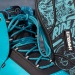 Hyperlite AJ System Wakeboarding Boot 2016 in Blue close up