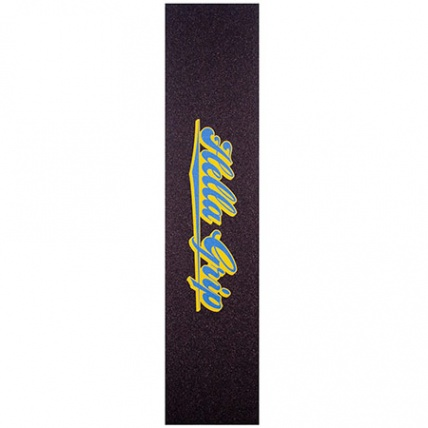Hella Grip Classic Logo Blue and Yellow Scooter Griptape