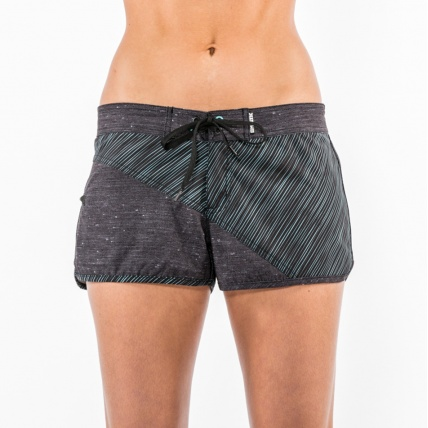 Mystic Blurred Lines Womens Board Short Clear Water front