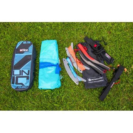 Peter Lynn Uniq Single Skin Power Kite in Lime/ Aqua contents