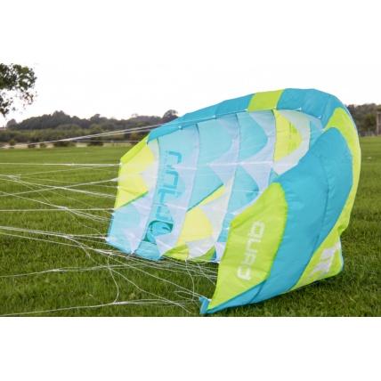 Peter Lynn Uniq Single Skin Power Kite in Lime/ Aqua
