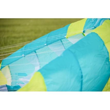 Peter Lynn Uniq Single Skin Power Kite in Lime/ Aqua close up
