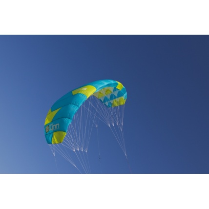 Peter Lynn Uniq Single Skin Power Kite in Aqua/ Lime