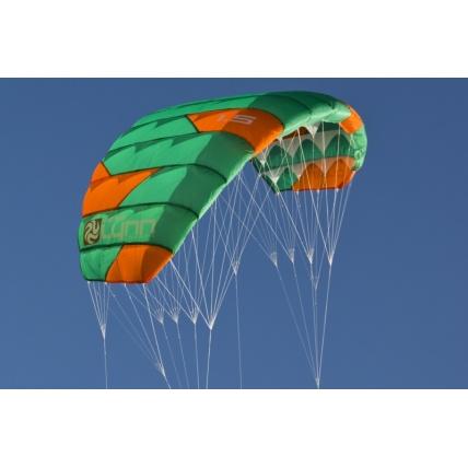 Peter Lynn Uniq Single Skin Power Kite in Green/ Orange