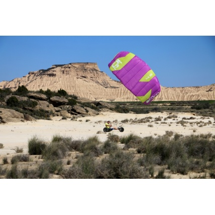 Peter Lynn Uniq Single Skin Power Kite in Purple/ Lime