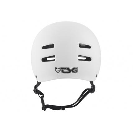 TSG Evo Helmet in Injected White Back