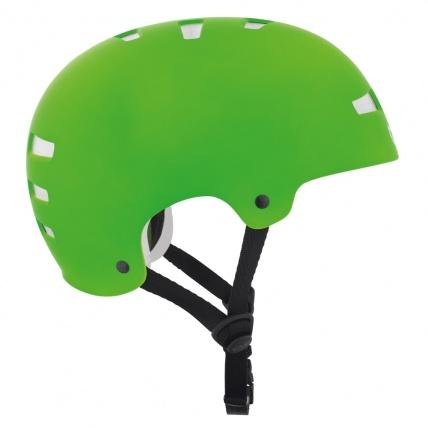 TSG Evo Helmet in Satin Lime Green Side
