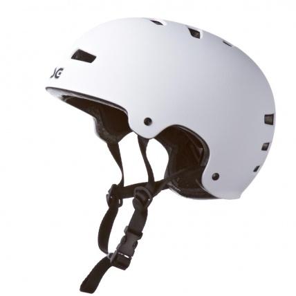 TSG Skate BMX Helmet in Injected White Side
