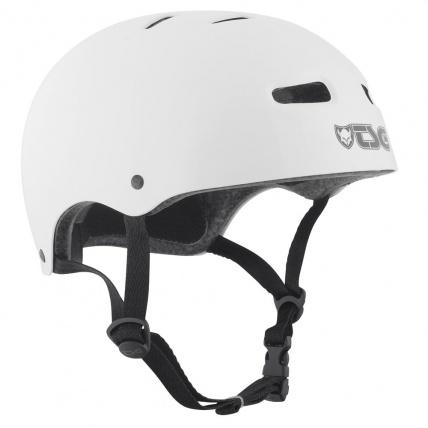 TSG Skate BMX Helmet in Injected White