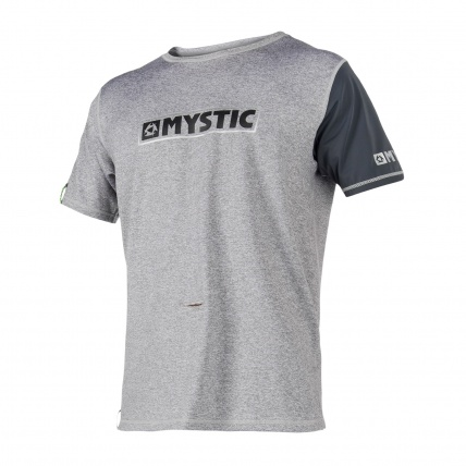 Mystic Majestic Loose Fit SS Rash Vest in Grey front