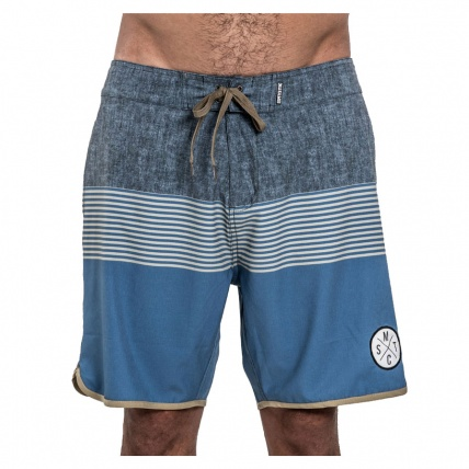 Mystic Fortress Boardshorts Blue Front View