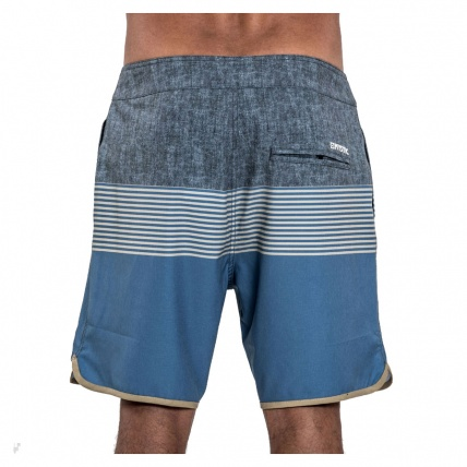 Mystic Fortress Boardshorts Blue Rear View