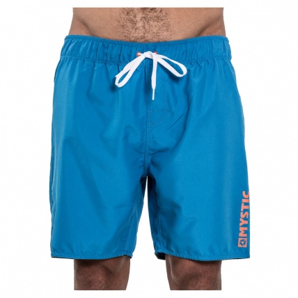 Mystic Brand Elastic Board short Blue Front View