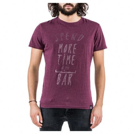 Mystic Spend More Tee Oxblood Red Front View