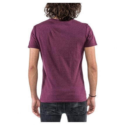 Mystic Spend More Tee Oxblood Red Rear View