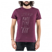 Mystic - Spend More T-Shirt Oxblood Red